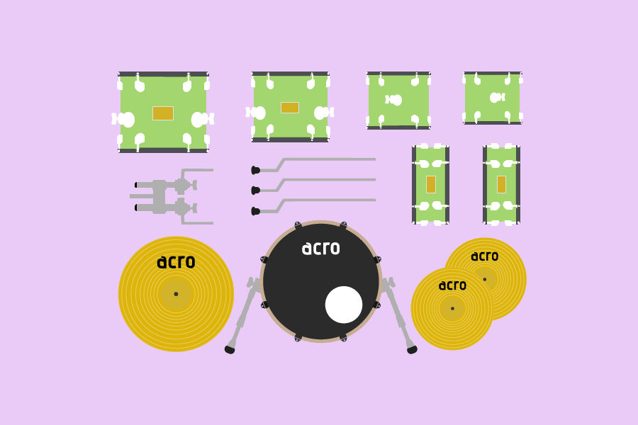 ドラムの各部名称・解説