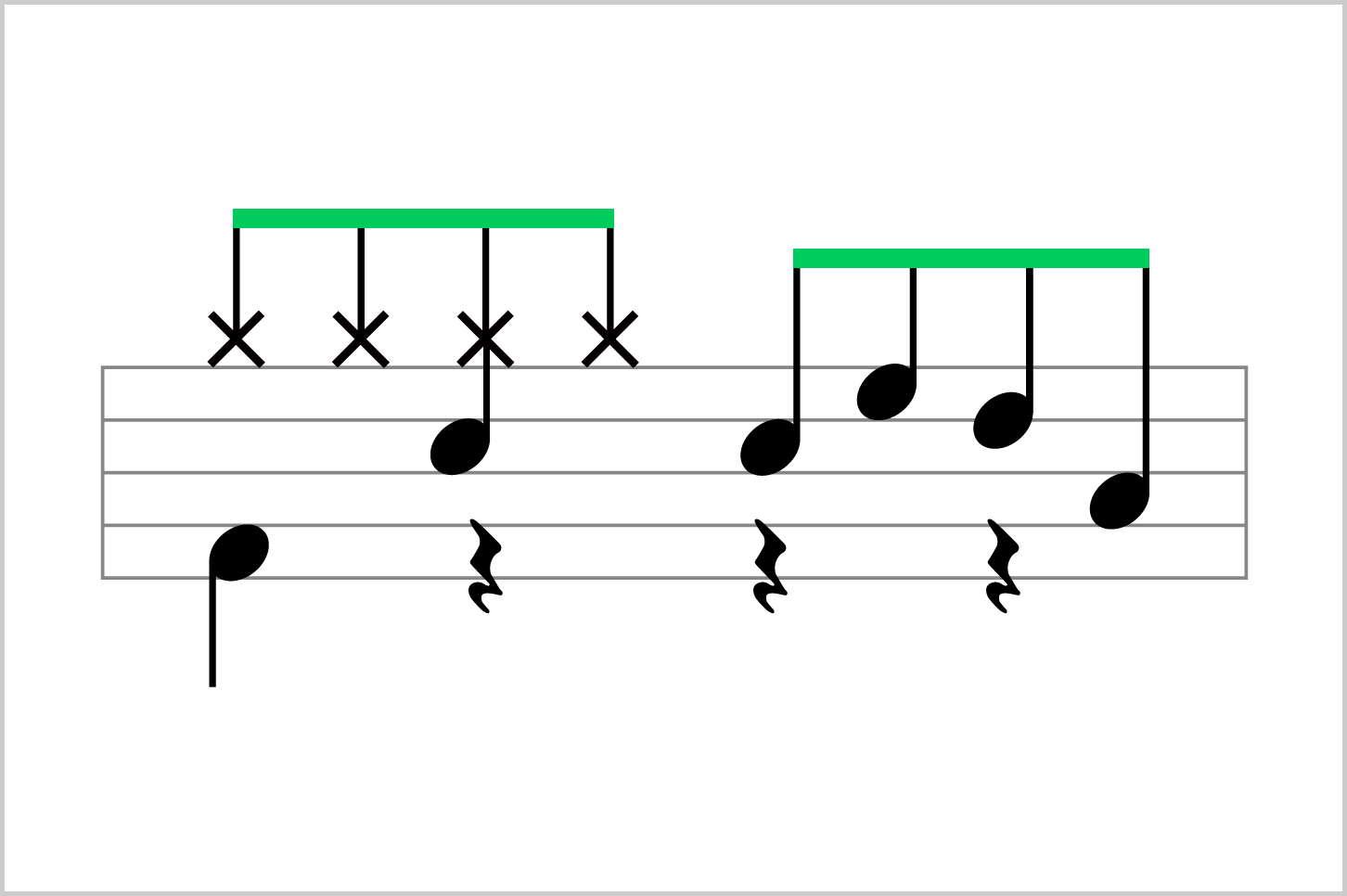 8分音符のfill 8分音符