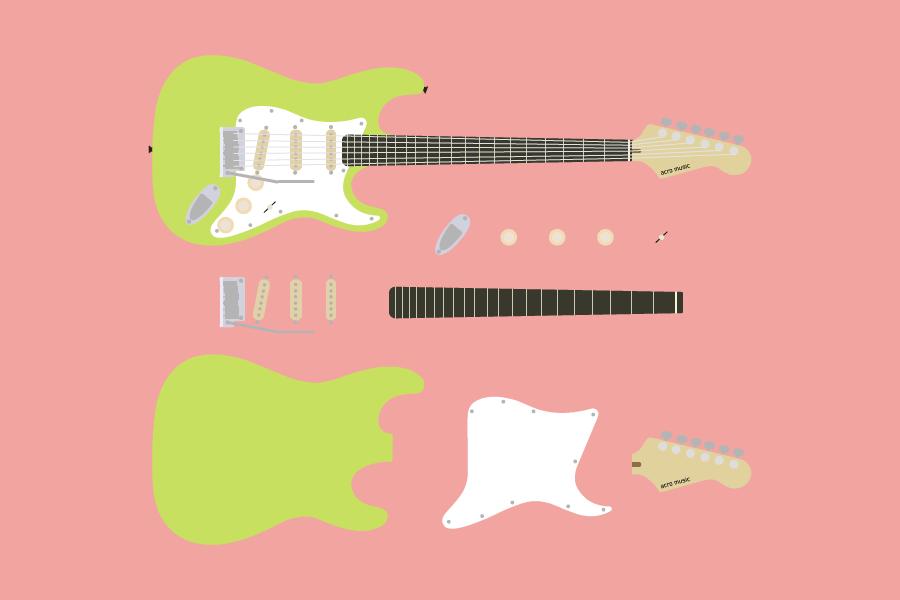 ギターの各部名称・解説