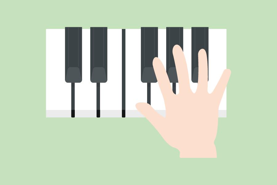 右手で演奏しよう!